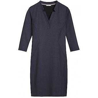 Sandwich Kleidung dunkelblau Denim Effekt Kleid