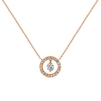 Necklace Helios 18K Gold and Diamonds - Rose Gold