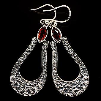 Garnet Earrings 1 7/8