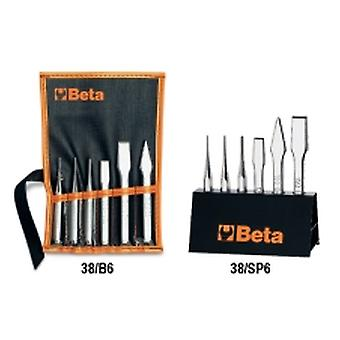 Beta 000380009 38 /SP6 6pc Drift Punches, Centre Punches, Flat & Cape Chisels