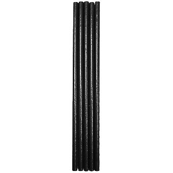 Black Paper Straws 6mm
