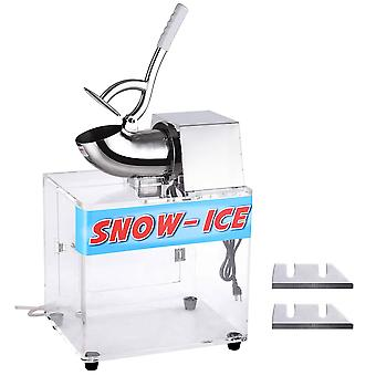 WeChelf Electric Snow Cone Machine Slush Maker Stainless Steel Ice Shaver Crusher Dual Blades 250w 440lb Home Commercial