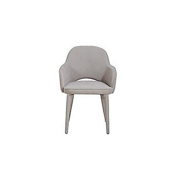 Cassiopea Metall Farbe Beige Stuhl, Stoff 66x58x83 cm