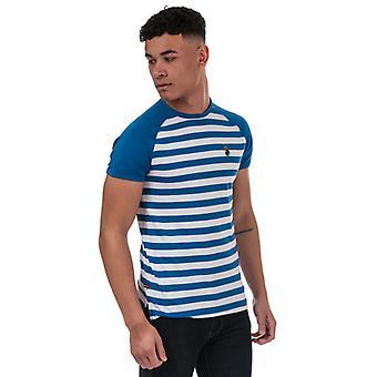 Men's Luke 1977 Raglan Stripe T-Shirt in Blue
