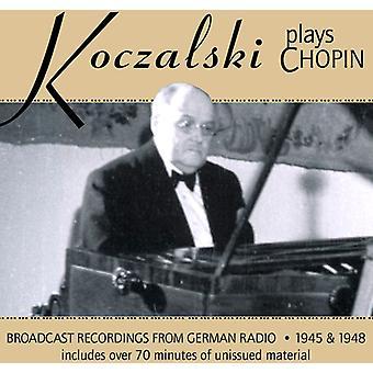 Raul Koczalski - Koczalski Plays Chopin: Broadcast Recordings From German Radio 1945 & 1948 [CD] USA import