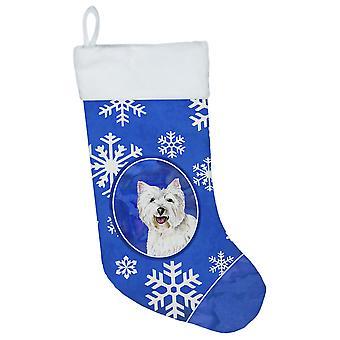 Carolineøerne skatte SC9370-CS Westie vinter snefnug Christmas strømpe SC937