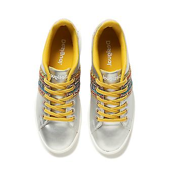 Desigual Cosmic Exotic Moon Sneakers Pumps Silber mit Perlen