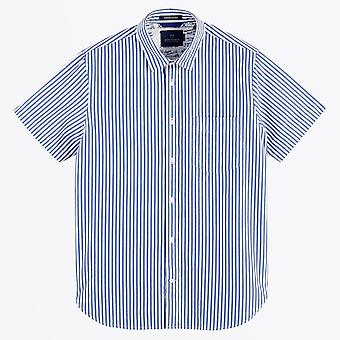 Scotch & Soda  - Jacquard Stripe Shirt - Blue/White