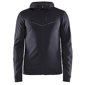 Craft Men's Eaze Full Zip Jersey Hood Jacket Black