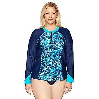 Brand - Coastal Blue Women's Plus Size Rashguard: Short and Long Sleev...