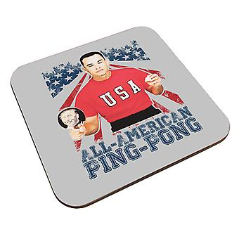 Forrest Gump All American Ping Pong Coaster