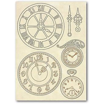 Wooden Shapes A5 Clocks (KLSP017)