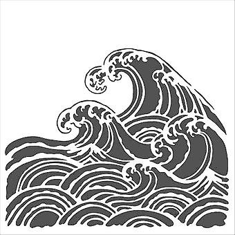 The Crafter's Workshop Wave 6x6 Inch Stencil