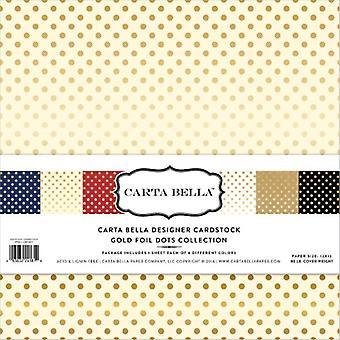 Echo Park Carta Bella Gold folie 12x12 inch collectie Kit (CBFG107)