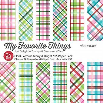 My Favorite Things Plaid Patterins Merry & Bright 6x6 Inch Paper Pack