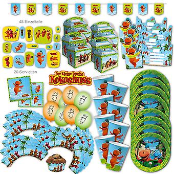 Dragon Coconut Party Set XL 121-stuk voor 8 gasten Dragon Party Decoration Party Pakket