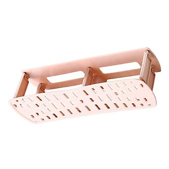 PP Wall-mounted Shoe Storage Rack Pink 27.5x7x8.5CM