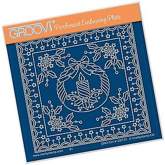 Groovi Tina's Kerstkaars Parchlet A6 Square Plate