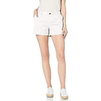 """Essentials Women's 3.5"""" Inseam Solid Chino Short, White, 8"""