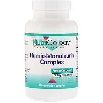 Nutricologie, Complexe Humic-Monolaurin, 120 capsules végétariennes