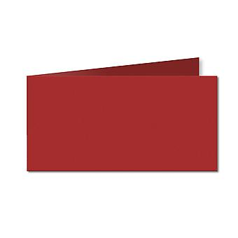 Chilli Red. 100mm x 420mm. DL (Short Edge). 235gsm Folded Card Blank.