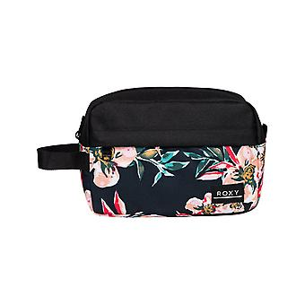 Roxy Beautifully Wash Bag in Anthracite Wonder Garden S