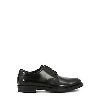 Tod's Xxm62c00c20aktb999 Men's Black Leather Lace-up Shoes