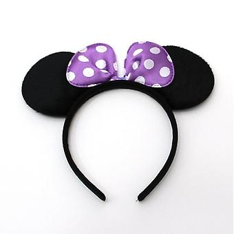 Cute Mickey Minnie Shiny Ears Hairband For Birthday Party Christmas Celebration