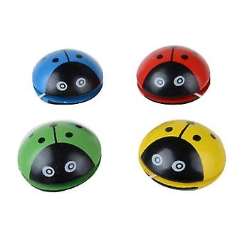 Wooden Ladybird Yo-yo Ball Blue Green Red Yellow Ladybug Creative Wooden Yo-yo Toys For Children
