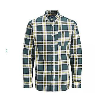 Jack & Jones Jeff Plaid Long Sleeve Shirt (sea Moss)