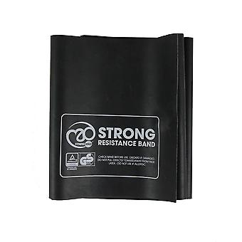 fitness mad black strong resistance band only 1.5m x 15cm