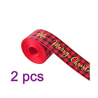 Christmas ribbon with bobbins used for Christmas decoration, gift packaging, party decoration