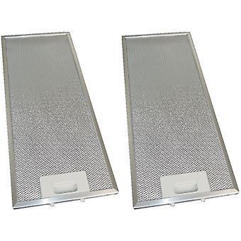 2 x Universal Cooker Hood Metal Grease Filter 185mm x 465mm