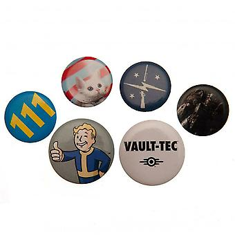 Fallout Badge Set (Pack of 6)