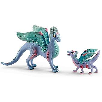 Schleich blossom dragon mother and child collectable figure