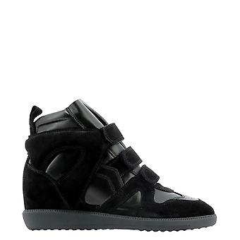 Isabel Marant ÉToile Bk004620a060s01bk Women's Black Leather Hi Top Sneakers