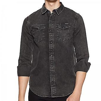 Superdry Resurrection L/S Denim Shirt Cinza F3U