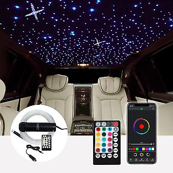 Dc12v ,6w Rgb Optic Fiber Car Roof Star Light With Rf Control (2m 0.75mm End