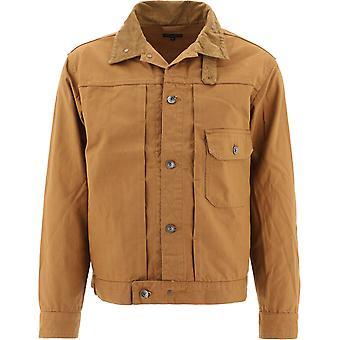Engineered Garments 20f1d007ct076 Men's Brown Cotton Outerwear Jacket