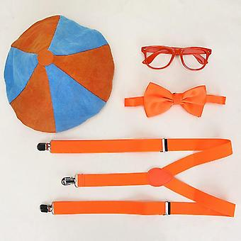 Blippi Dress Up Set Including Hat, Cap, Bowtie, Glasses Birthday Party