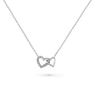 Necklace Love Heart 18K Gold and Diamonds