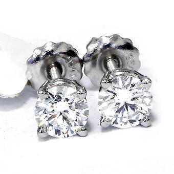 14k White Gold 1 ct TDW Lab Créé Eco Friendly Diamond Studs