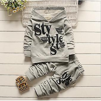 Baby Clothes Alphabet Long Sleeve Top Pants 2-piece Set, Autumn Sweater Suit's