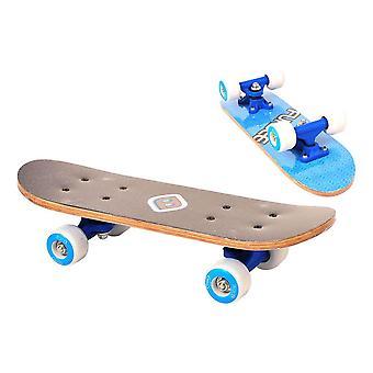 Funbee Children's 17-Inch Maple Wood Mini Skateboard Cruiser Blue (OFUN247B)