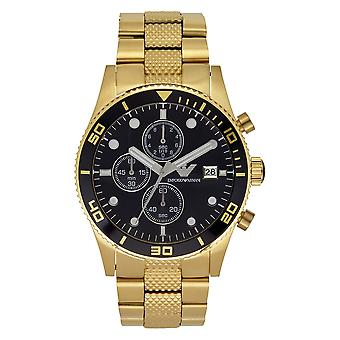 Armani Ar5857 Gold Stainless Mens Watch