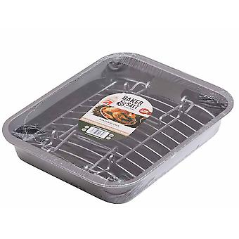 Baker & Salt Roast & Rack Tin 36 x 28cm 55830