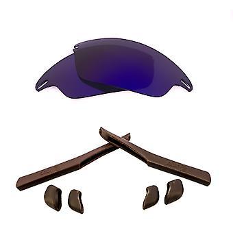Polarized Replacement Lenses Kit for Oakley Fast Jacket Purple Mirror Brown Anti-Scratch Anti-Glare UV400 by SeekOptics