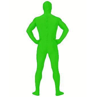 AltSkin Adult/Kids Full Body Stretch Fabric Zentai Suit - Zippered Back One Piece Stretch Suit Costume - Green