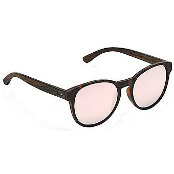 Take a Shot The Red Queen Sunglasses - Brown/Light Pink