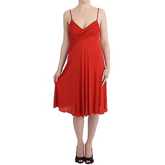 Galliano Red A-Line Cocktail Dress